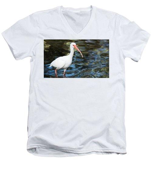 Ibis In The Swamp Men's V-Neck T-Shirt