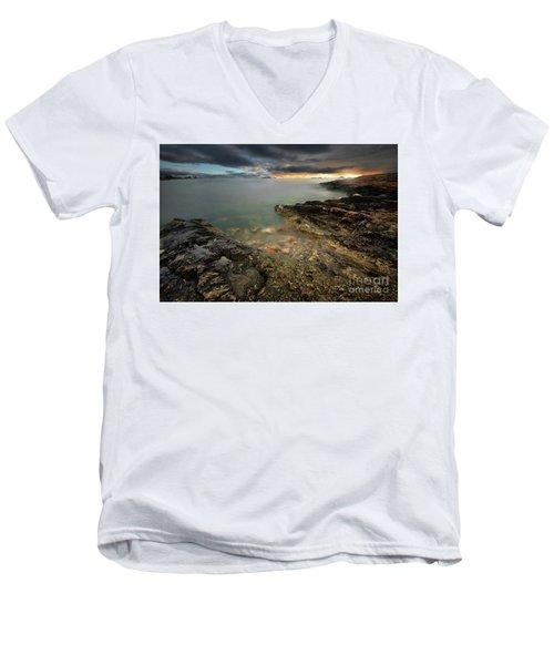 Ibiza Summer Mix 7.0 Men's V-Neck T-Shirt by Yhun Suarez