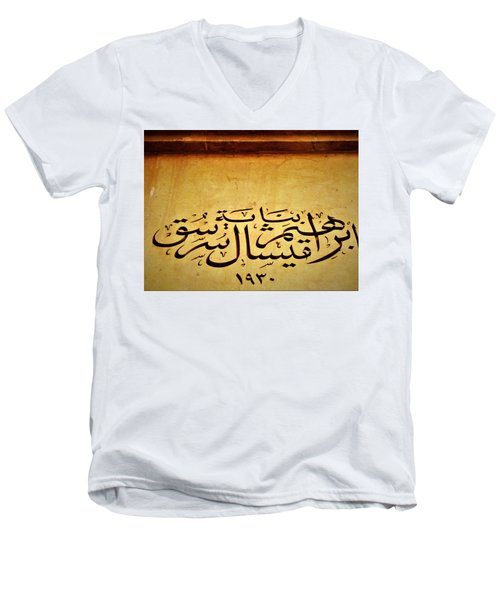 Ibrahim Sursok 1930 Building In Beirut  Men's V-Neck T-Shirt by Funkpix Photo Hunter