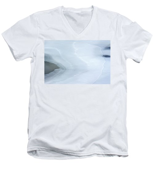 Ice Abstract 3 Men's V-Neck T-Shirt by Hitendra SINKAR