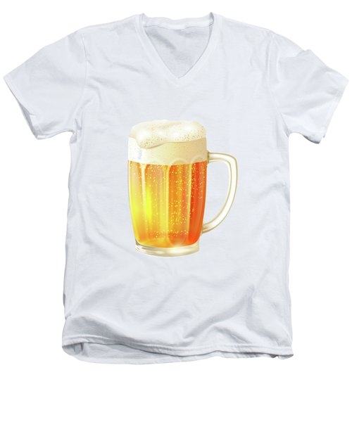 Ice Cold Beer Pattern Men's V-Neck T-Shirt