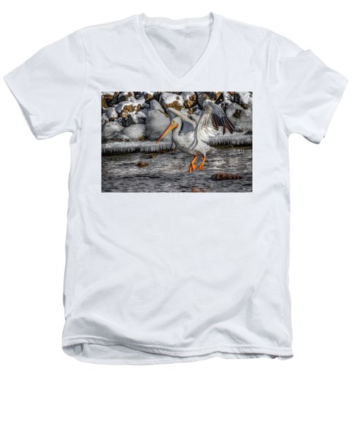Ice Jump Men's V-Neck T-Shirt