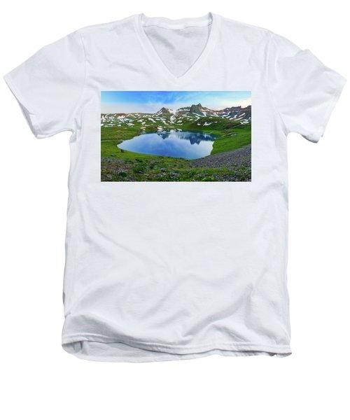 Ice Lake Panorama Men's V-Neck T-Shirt