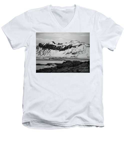 Icelandic Idyll Near Vik Men's V-Neck T-Shirt