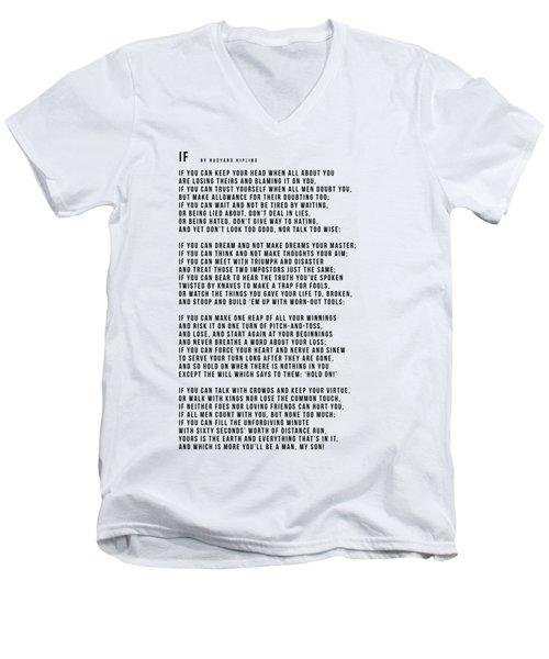 If #minimalism Men's V-Neck T-Shirt