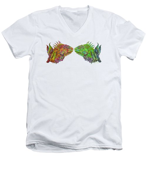 Iguana Love Men's V-Neck T-Shirt