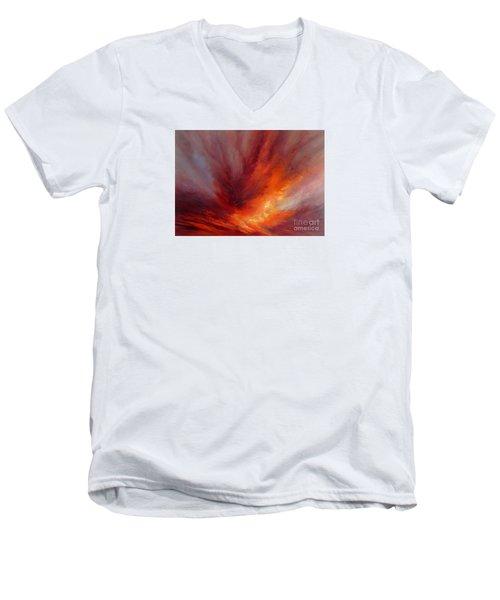 Illumination Men's V-Neck T-Shirt by Valerie Travers