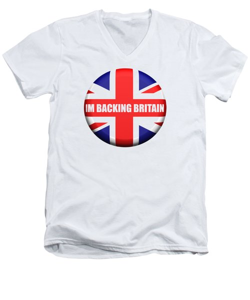 Im Backing Britain Men's V-Neck T-Shirt