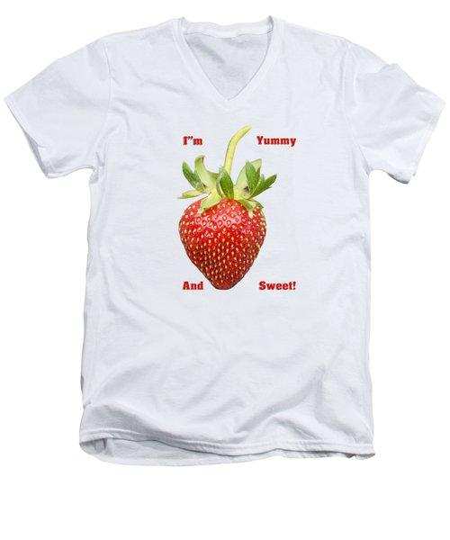 Im Yummy And Sweet Men's V-Neck T-Shirt