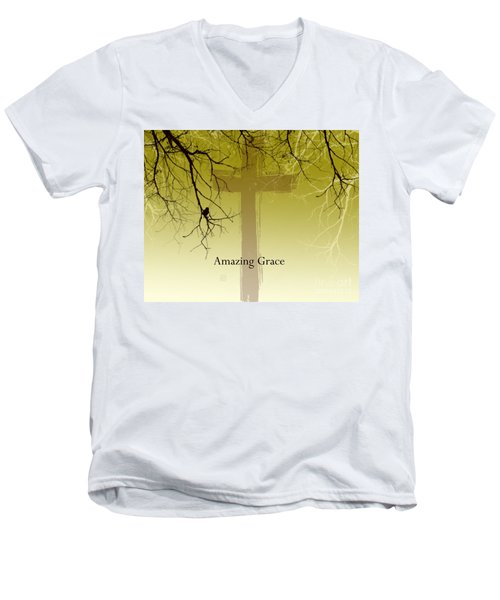 Immanuel- My Saviour Men's V-Neck T-Shirt by Trilby Cole