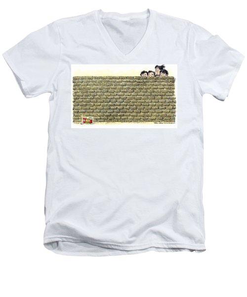 Immigrant Kids At The Border Men's V-Neck T-Shirt