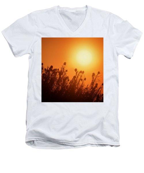 Impalila Island Sunset No. 3 Men's V-Neck T-Shirt by Joe Bonita