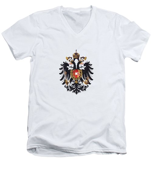 Imperial Coat Of Arms Of The Empire Of Austria-hungary 1815 Transparent Men's V-Neck T-Shirt