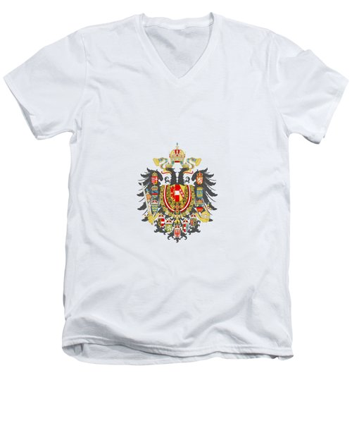 Imperial Coat Of Arms Of The Empire Of Austria-hungary Transparent Men's V-Neck T-Shirt