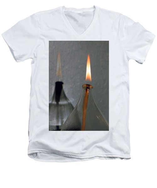 Impossible Shadow Oil Lamp Men's V-Neck T-Shirt by Jana Russon