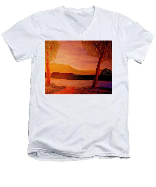 Impression Dawn Men's V-Neck T-Shirt by Bill OConnor