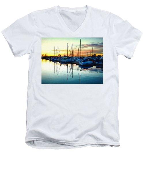 Impressions Of A San Diego Marina Men's V-Neck T-Shirt