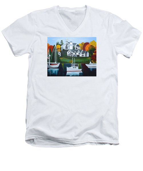 Impressions Of New England Two Men's V-Neck T-Shirt