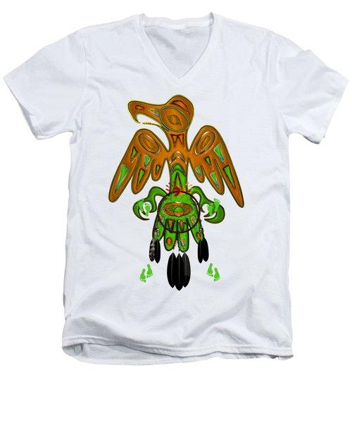 Imprint Native American Men's V-Neck T-Shirt by Sharon and Renee Lozen