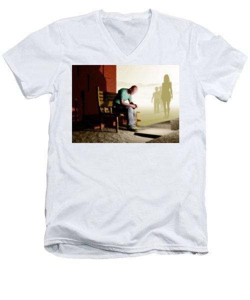 In A Fog Of Isolation Men's V-Neck T-Shirt by John Alexander