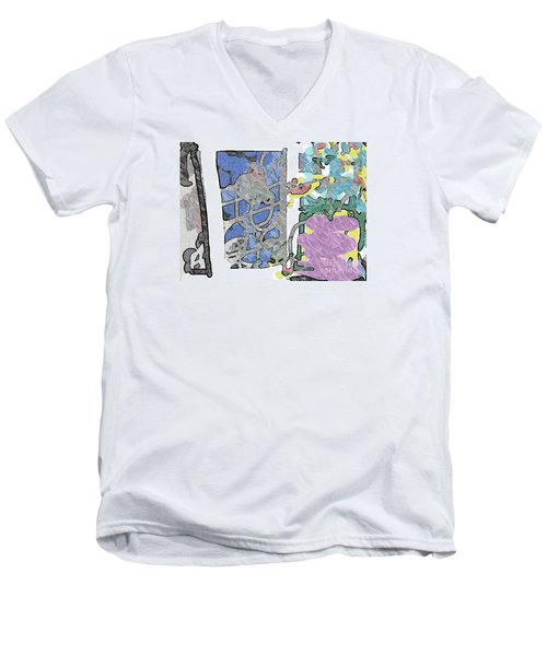 In Between Window And Flowers Men's V-Neck T-Shirt
