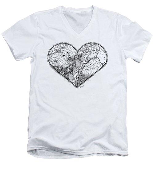 In Motion Men's V-Neck T-Shirt by Ana V Ramirez
