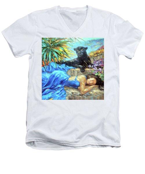 In One's Sleep Men's V-Neck T-Shirt by Dmitry Spiros