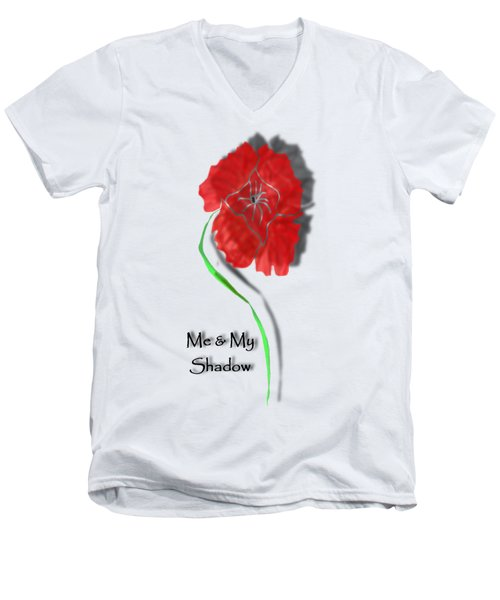 In Remembrance Poppy Men's V-Neck T-Shirt