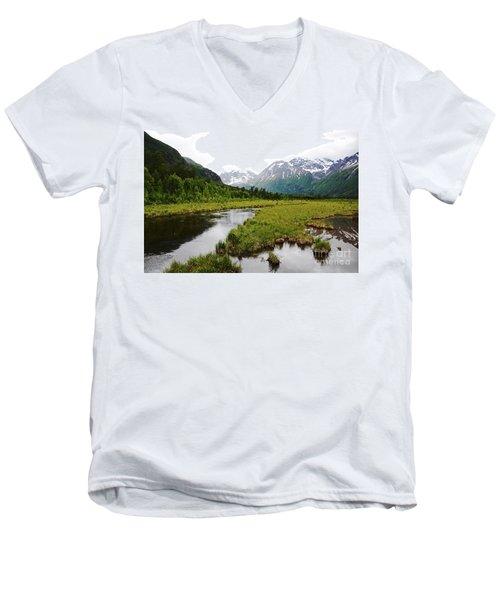 In Road To Denali Men's V-Neck T-Shirt