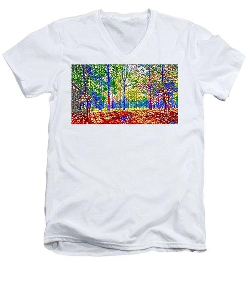 In Spite Off The Trees Men's V-Neck T-Shirt