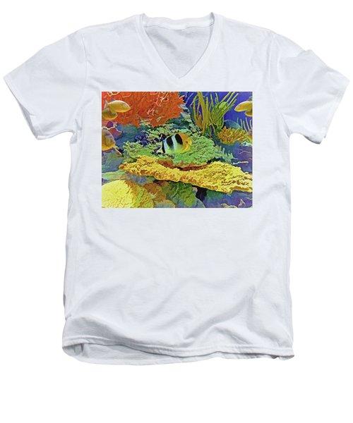 In The Coral Garden 10 Men's V-Neck T-Shirt