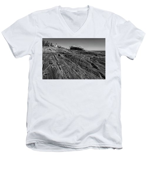 In The Distance Men's V-Neck T-Shirt by David Cote