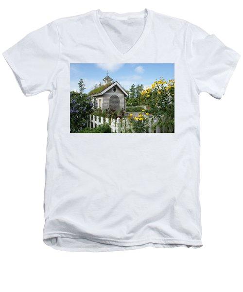 In The Garden Men's V-Neck T-Shirt by Lois Lepisto