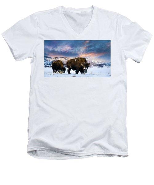 In The Grips Of Winter Men's V-Neck T-Shirt