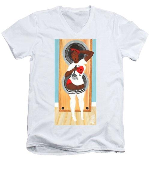 In The Groove Men's V-Neck T-Shirt