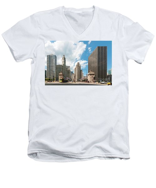 In The Middle Of Wacker And Michigan Men's V-Neck T-Shirt