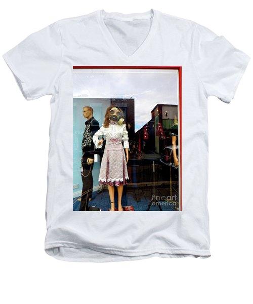 In The Window  Men's V-Neck T-Shirt by Gary Bridger