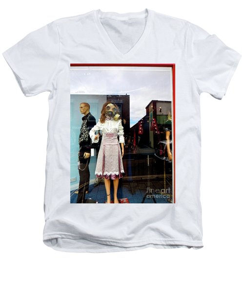In The Window  Men's V-Neck T-Shirt