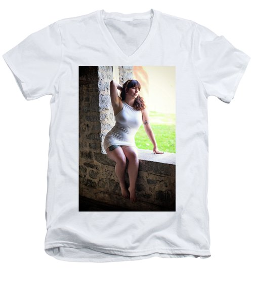 Men's V-Neck T-Shirt featuring the photograph In The Window by Rick Berk