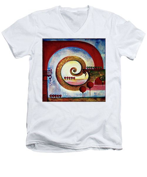 In The World Of Balance Men's V-Neck T-Shirt