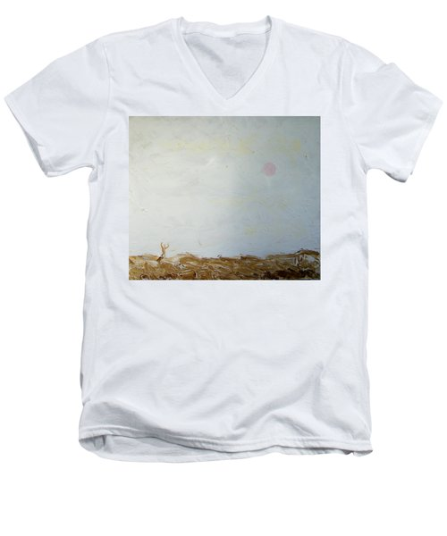 Men's V-Neck T-Shirt featuring the painting Incredible Lightness Of Being by Lenore Senior