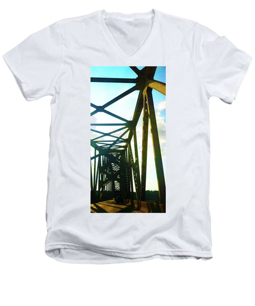 Men's V-Neck T-Shirt featuring the photograph Indefinite Sight by Jamie Lynn