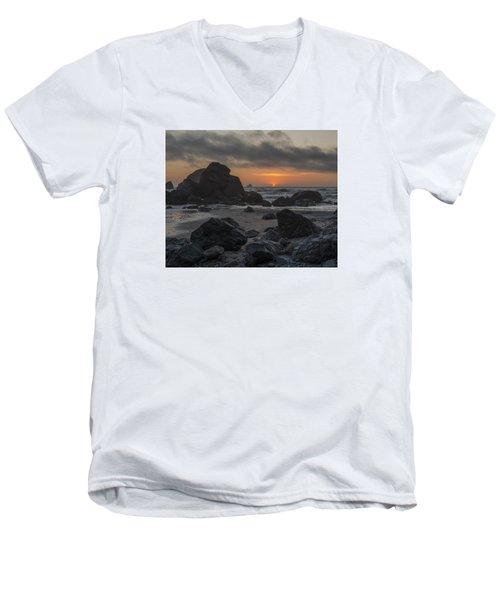 Indian Beach Sunset Men's V-Neck T-Shirt