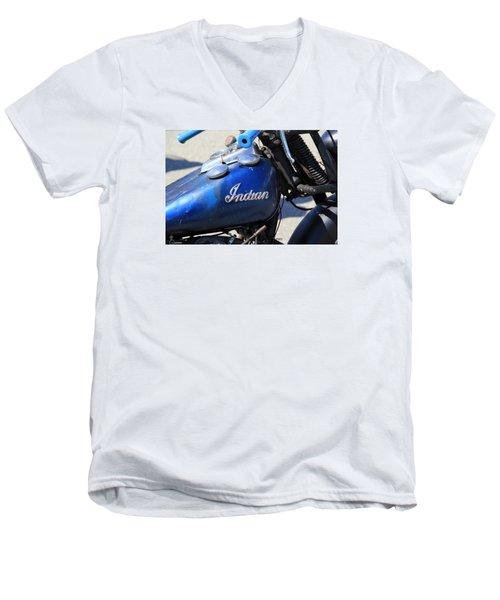 Indian Blue Men's V-Neck T-Shirt