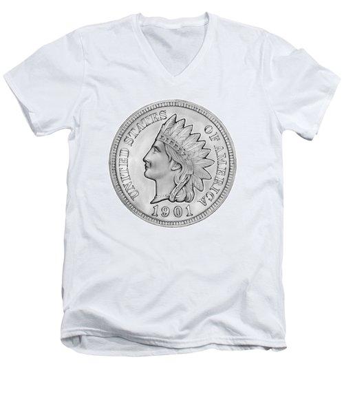 Indian Penny Men's V-Neck T-Shirt