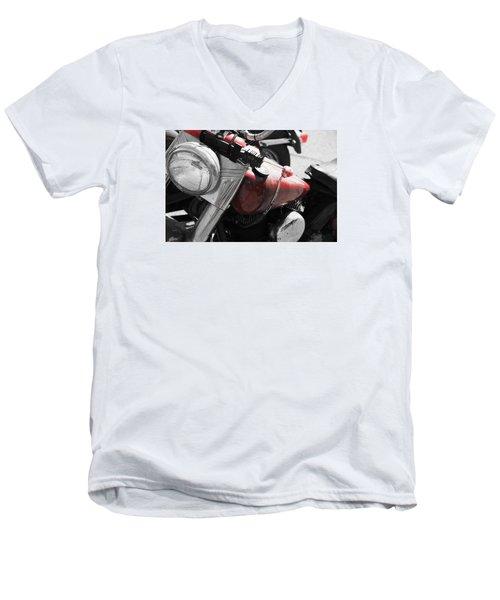 Indian Red Men's V-Neck T-Shirt