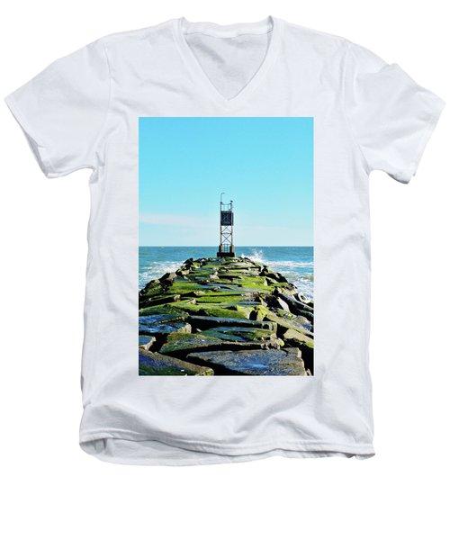 Indian River Inlet Men's V-Neck T-Shirt by William Bartholomew