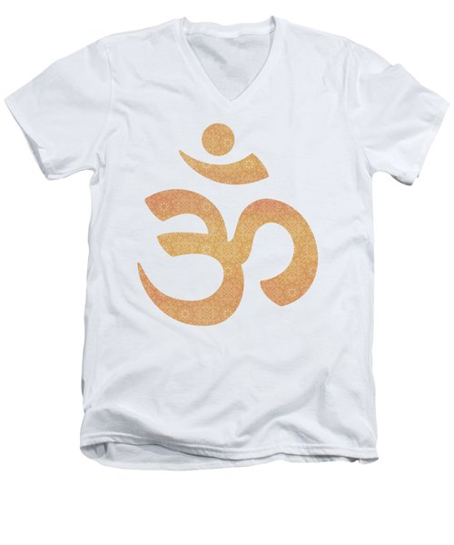 Indian Summer Mandala Copper Men's V-Neck T-Shirt