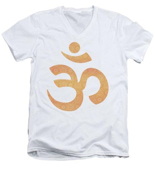 Indian Summer Mandala Copper Men's V-Neck T-Shirt