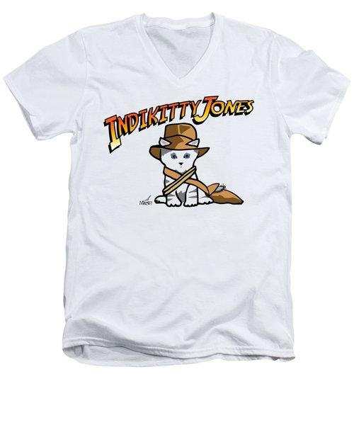 Indikitty Jones Men's V-Neck T-Shirt
